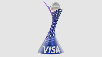 Visa Player of match trophy